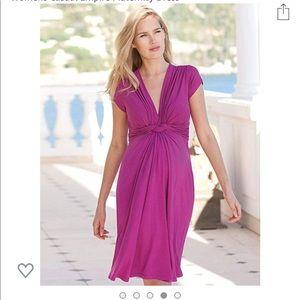 Seraphine casual empire waist maternity dress.
